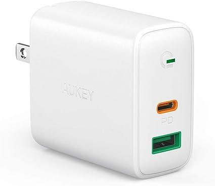 Amazon.com: AUKEY Cargador USB C de 30 W, cargador PD con ...