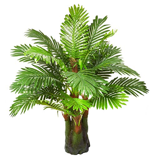 3.28-ft Artificial Palm Leaf Tree Plants Imitation Leaf Artificial Plant Green Greenery Plants Faux FakeTropical Large Palm Leaves Tree Outdoor UV Resistant Plants for Home Kitchen