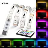 LED TV Backlight, Maylit(tm) USB LED Strips Neon Accent LED Lights Strips For 32'' to 47''TV Lights RGB Neon Light with Remote. LED Bias Light (32''-47''four side)