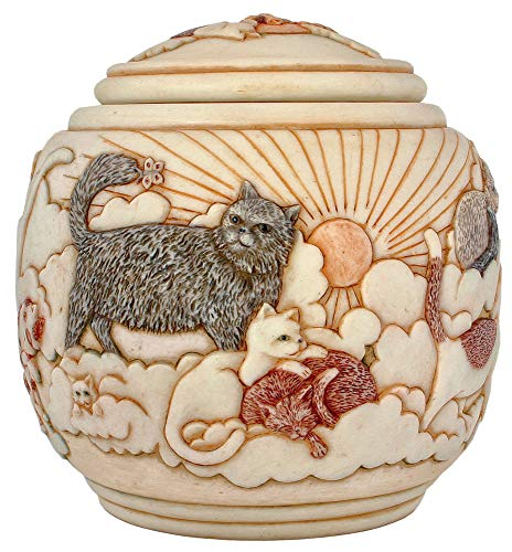 Jardinia Forever and Ever XL Lidded Cats and Kittens, Felines Cachepot Urn
