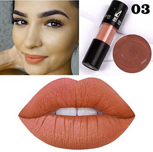 (Hunputa Lipstick,Blood Velvet Matte Liquid Lipstick Non-Stick Cup Lip Glosses Long Lasting Waterproof Lip Balm Sexy Charm Cosmetic Makeup Beauty Lip Makeup Tools)