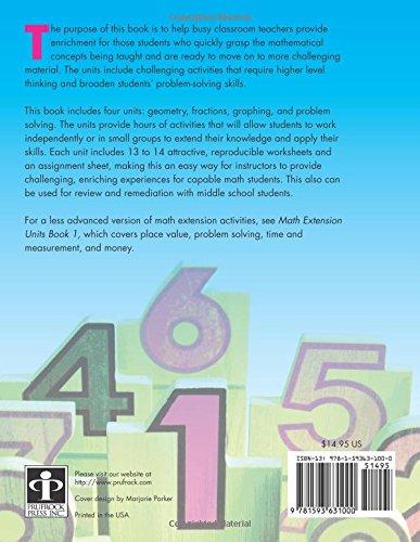 Amazon.com: Math Extension Units Book 2 (9781593631000): Kathy ...
