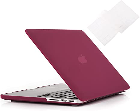 """Matte Chevron RED Case Keyboard Cover LCD for Macbook Pro 15/"""" Retina A1398"""