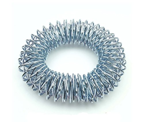 ACS/ACM Acupressure Hand Wrist Massage Rings or Bracelets Set of 4 Promote Blood circulation, Activate Acupoints Bracelet - 6.0Cm Outer Dia Steel Color