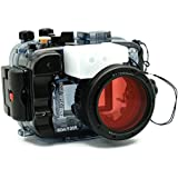 Sea frogs for Sony A6500 A6300 A6000 195FT/60M Underwater Camera Diving Waterproof housing (Housing + Red Filter)