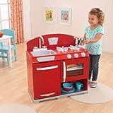 KidKraft Retro Vintage Red Kitchen Stove & Oven