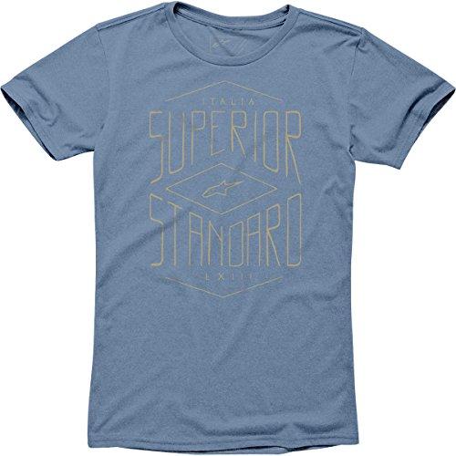 Alpinestars Mens Supreme Short-Sleeve Shirt, Blue Heather, Large