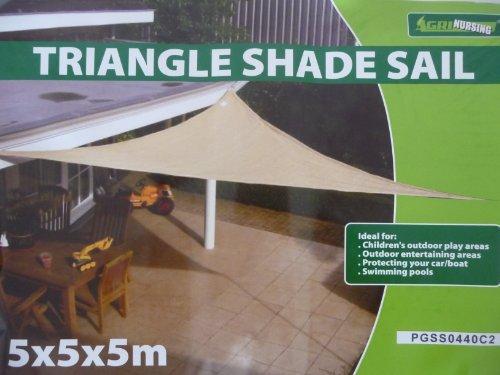 point-garden-Sonnensegel-Sonnenschutz-Sonnendach-Dreieck-5x5x5-m