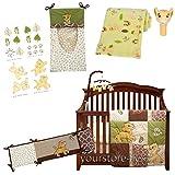 Disney Lion King - Go Wild 8 Piece Baby Crib Bedding Set BUNDLE W Bumper - Mobile - Blanket & Wall Decals Simba & Nala