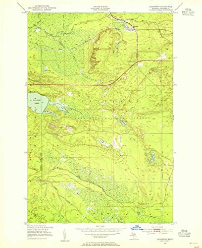 YellowMaps Eckerman MI topo map, 1:24000 Scale, 7.5 X 7.5 Minute, Historical, 1951, Updated 1955, 26.9 x 22 in - Paper for $<!--$30.95-->