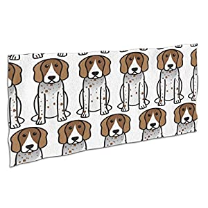 """Ultra Soft Highly Absorbent No Fading Beach Towel, Adults Kids Teens Oversized Bath Towel for Swimming Pool Travel Yoga Sports Picnic - American English Coonhound Cartoon, 40""""x70"""" 2"""