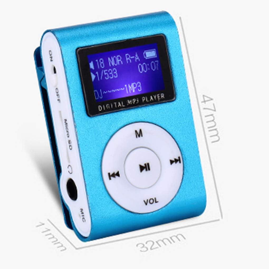 Courir Sport Mini MP3 USB Lecteur MP3 Clip /écran Support Micro SD Card TF LCD Design /él/égant portable