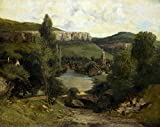 French Chateau Gustave Courbet Painting Print on Canvas Ready to Hang Museum Quality