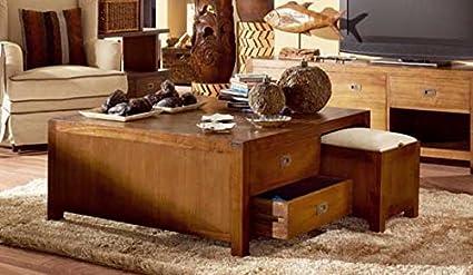 Mesa de Centro con Puffs : Coleccion STAR de 100x45x100cms ...