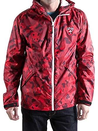 LRG Mens Core Collection Windbreaker Jacket, Red Panda Camo, 2X-Large