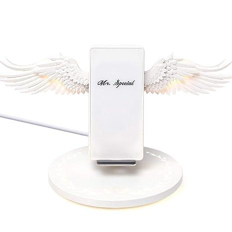 awhao-123 Cargador inalámbrico, 10 W de Carga rápida Angel ...