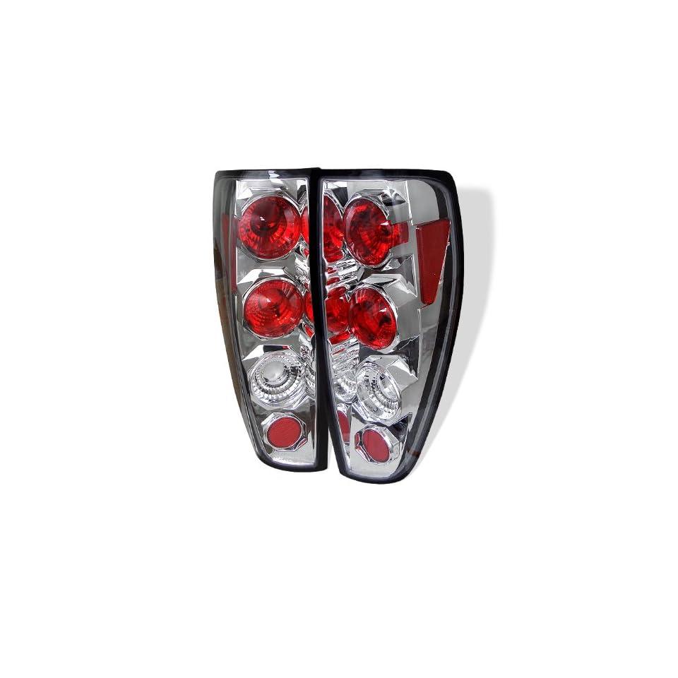 Chevy Colorado 04 05 06 07 08 09 10 Altezza Tail Lights + Hi Power White LED Backup Lights   Chrome (Pair)