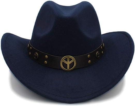 MADOGN Moda Invierno Sombrero de Vaquero Suede Look Wild West ...