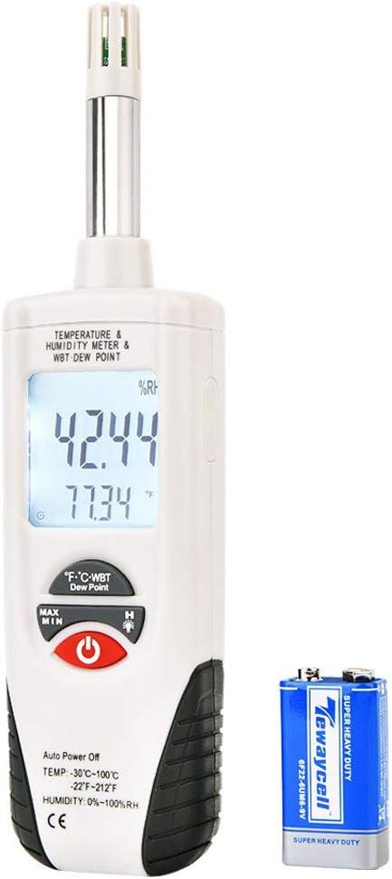 Hti-Xintai medidor de temperatura de humedad digital, medidor de ...