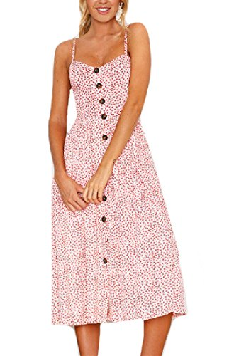 Summer Print Hollowed Sling Spring Midi Spring Dress Back Summer Pencil Women Pink Coolred Flower ztx0FF