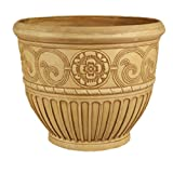 Arcadia PSW OB81BB Roman Bell Pot, 22 by 16-Inch, Beige