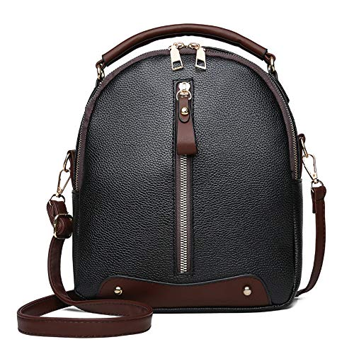 Women's Leather Backpack,Clearance!AgrinTo Vintage Travel School Bag Shoulder Bags Satchel (Spy Bag Fendi Black)