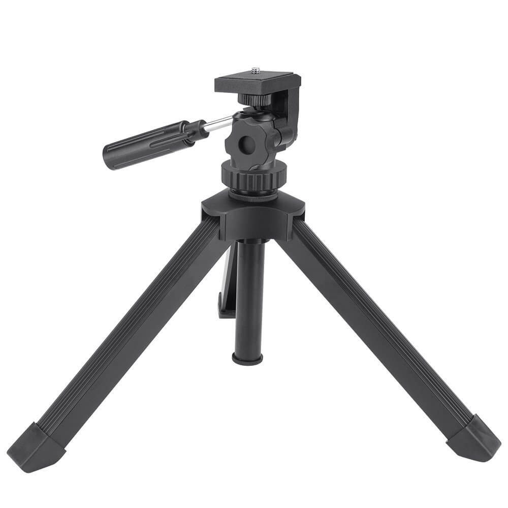 Ecurfu Aluminum Table Top Tripod, Adjustable Heavy Duty Tripods for Spotting Scopes Binoculars Telescope Monoculars DSLR Cameras and Other Device