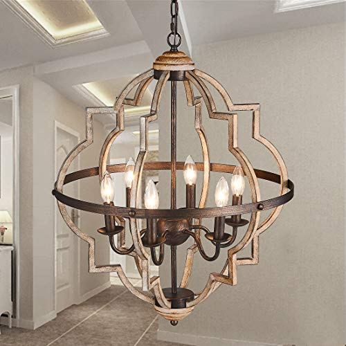 TZOE Orb 6-Light Chandelier,Rustic