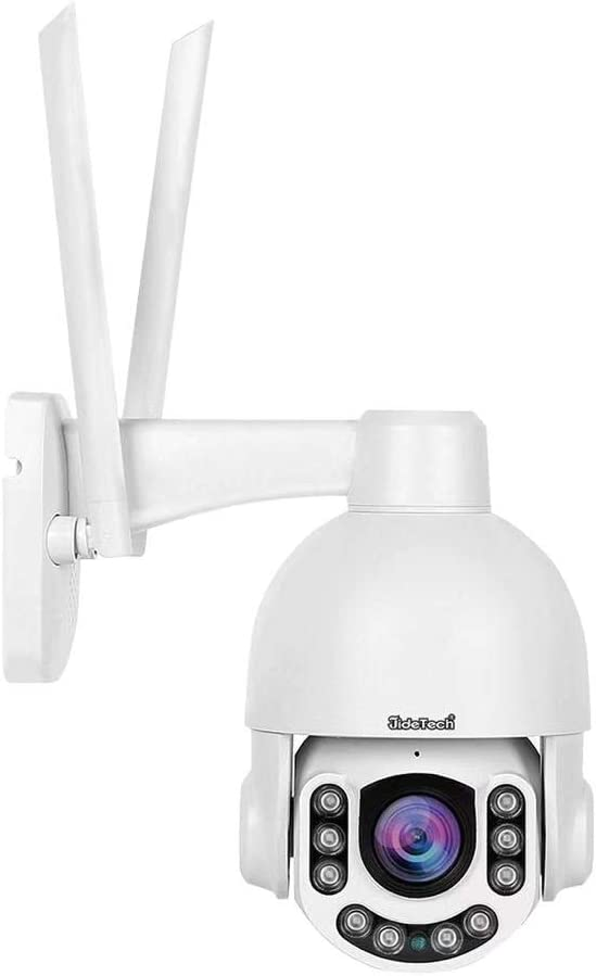 5MP PTZ WiFi Camera Outdoor, Super HD IP Camera, 5X Zoom Security Camera, 200ft Night Vision, 2-Way Audio, Motion Detection Alarm, IP66 Waterproof, Support ONVIF, 128G SD Card Slot