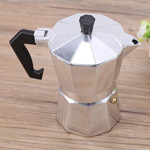 GOTOTOP 150/300/450/600ml cafetera italiana cocina de aluminio – tarro para café espresso para casa oficina, 300ML: Amazon.es: Hogar