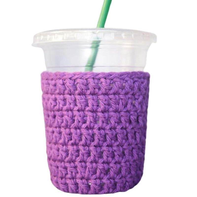 coffee cup sleeve Handmade crochet cup cozy