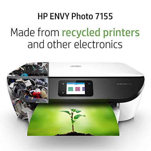 HP ENVY 7155 All in Printer with Wireless HP Instant Ink Amazon Replenishment -