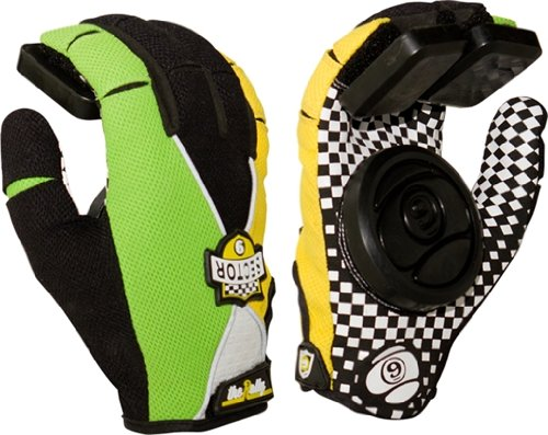 Sector 9 Rally Slide Gloves Youth S/M- Green/Yellow/Black