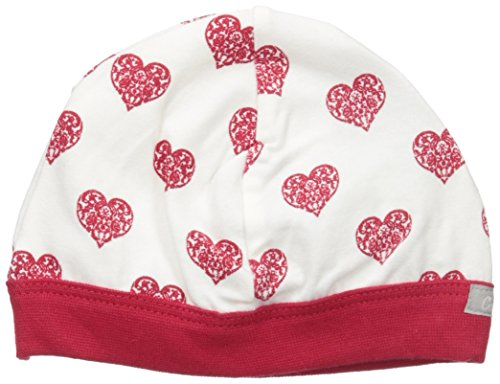 Heart Print Jersey Knit Cotton Cap, Cranberry/Almond Hearts, 3-6 Months ()