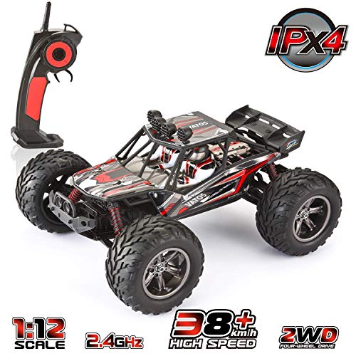 VATOS 1/12 RC Truks Off Road Remote Control Cars Rechargable 2.4GHz Fast Remote Control Car 2WD Waterproof All Terrain Remote Control Car | 26+ MPH Remote Control Truck | RC Cars for Kids and Adults ()