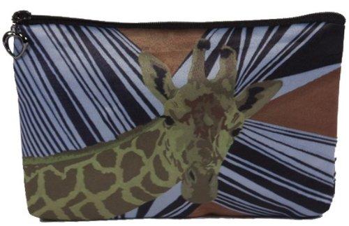 Animal Print - Giraffe - Cosmetic Bag, Zip-top Closer - Taken From My Original Paintings (Giraffe - African Splash)