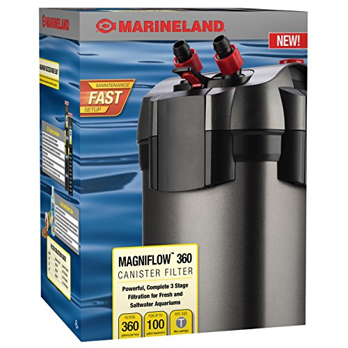 MarineLand Magniflow Canister Filter for Aquariums, Easy Maintenance (Best Saltwater Aquarium Filter)