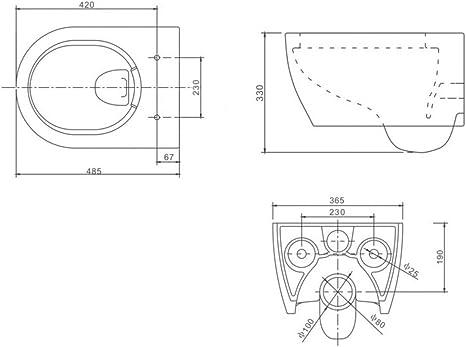 Dr/ü ckerplatte chrom Grohe Rapid SL Vorwandelement inkl Lavita Wand WC Vela ohne Sp/ü lrand WC-Sitz mit Soft-Close-Absenkautomatik