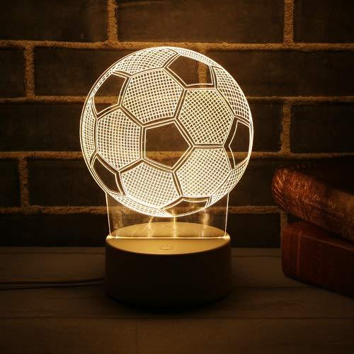 - 3D LED Lamp Cute Christmas Tree Snowman LED Night Light Xmas Party Decoration Energy Saving Atmosphere Control Lamp Soccer