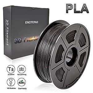 PLA 3D Print Filament,1.75 mm PLA Filament,Dimensional Accuracy +/- 0.02 mm,1KG Spool(2.2lbs) - Enotepad Non-Block Filament by Enotepad
