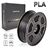 PLA 3D Print Filament,1.75 mm Black PLA Filament,Dimensional Accuracy +/- 0.02 mm,1KG Spool(2.2lbs) - Enotepad Non-Block Filament(Black)