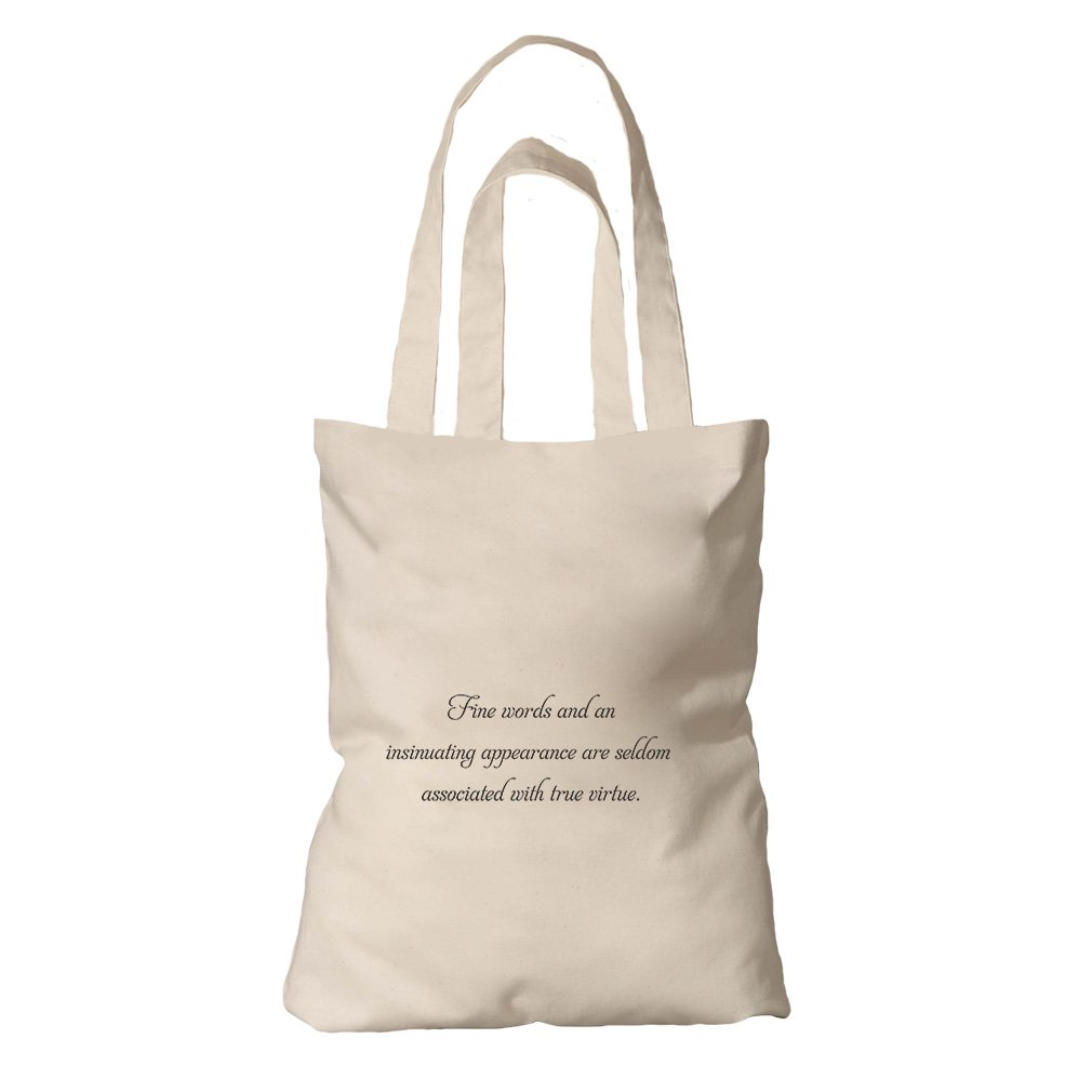 Tote Organic Canvas Fine Words Insinuating Appearance Seldom By Style In Print