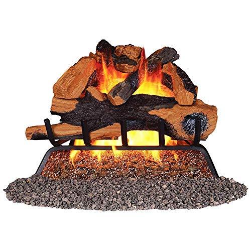 REMINGTON REM-L240BNO-V Vented Log Set-Natural Gas, Brown
