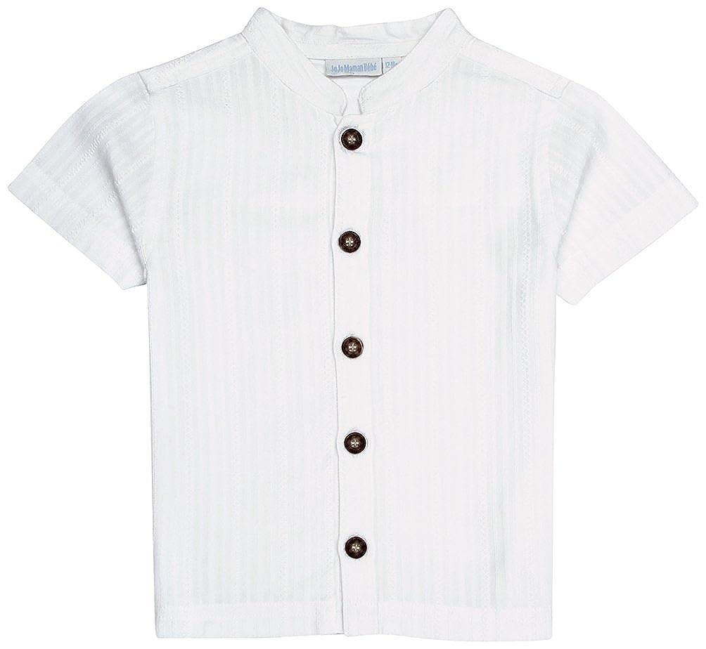 Toddler//Kid -Blue JoJo Maman Bebe Little Boys Nehru Shirt
