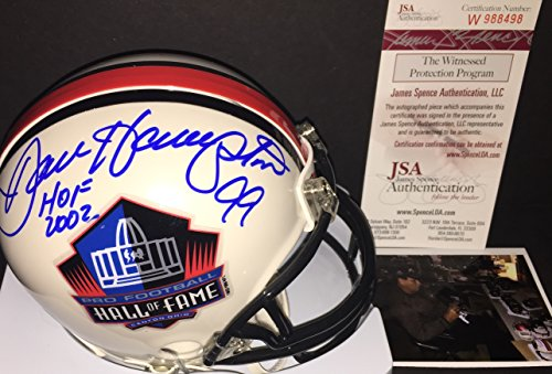 Dan Hampton Chicago Bears Autographed Signed Hall of Fame Mini Helmet HOF 2002 JSA WITNESS COA