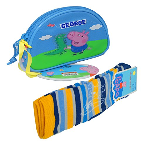 - Peppa Pig Kids Purse With Socks,Peppa Pig Coin Pouch,Original,Official Licensed! (BLUE)