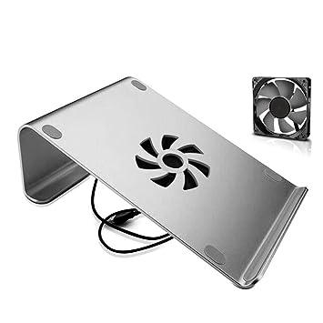 CXQ Soporte portátil Simple para computadora portátil Soporte de Escritorio Base de Aluminio Base de Ventilador Base de computadora Soporte de computadora ...