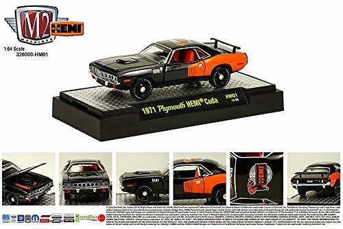 Plymouth Hemi Cuda Body - 1971 Plymouth HEMI Cuda / 50 Years of HEMI M2 Machines Detroit Muscle Series 2014 Castline 1:64 Scale Die-Cast Vehicle (HM01 14-08)
