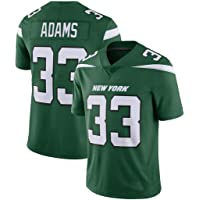 NBJBK NFL Rugby Jersey, New York Jets 33 Adams 26 Bell # 12 14 Camiseta Deportiva de fútbol de Manga Corta Camiseta Deportiva
