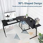 Computer-Desk Office Desk L-Shaped Wood Corner Desk Computer Workstation Large PC Gaming Desk Home-Office Table…